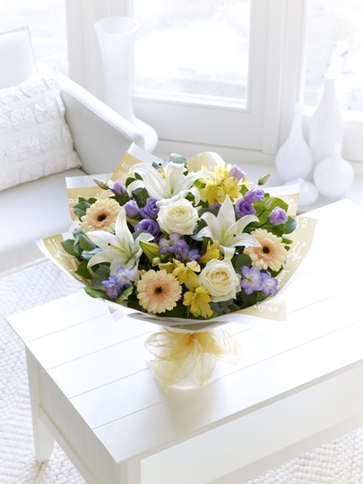 Picture of Soft Pastels Scented Sympathy Hand-tied