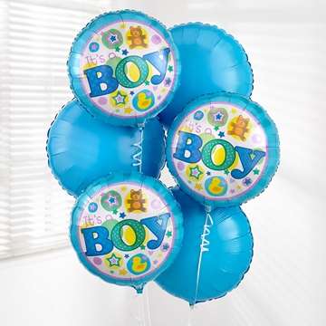 Picture of Baby Boy Balloon Bouquet
