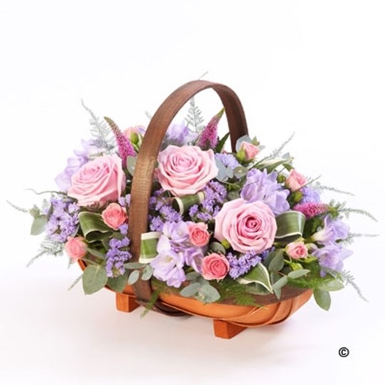 Picture of Mixed Basket - Pink and Lilac Xl