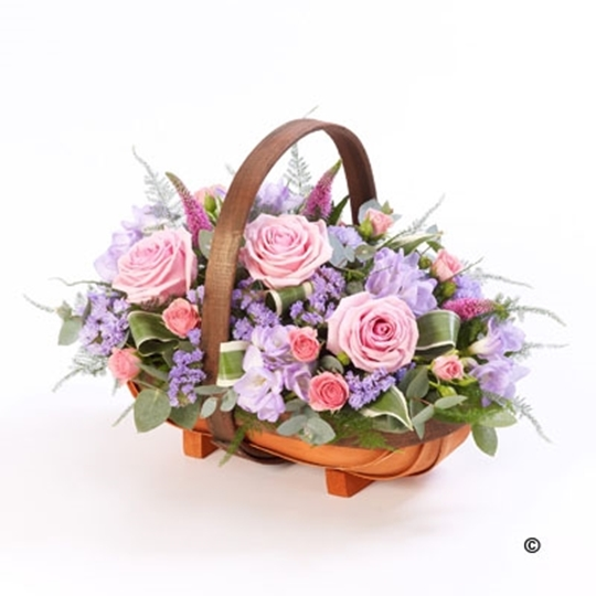 Picture of Mixed Basket - Pink and Lilac Lge