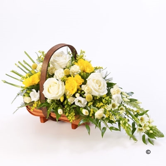 Picture of Mixed Basket - Yellow and White Xl