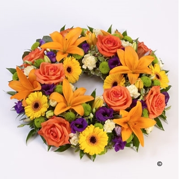 Picture of Rose and Lily Wreath - Vibrant