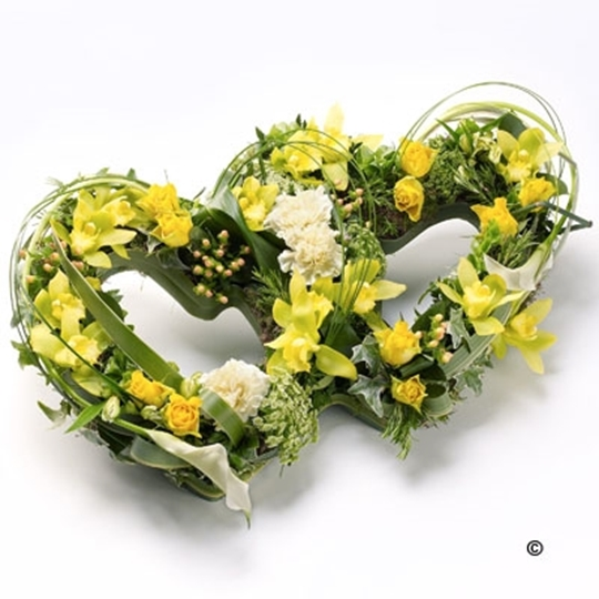 Picture of Double Heart Tribute - Yellow