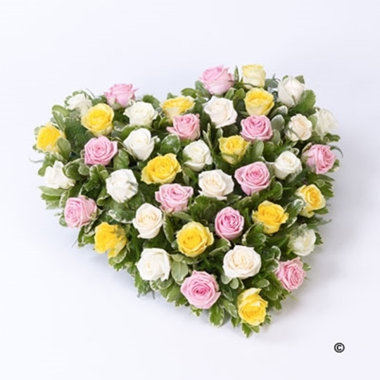 Picture of Mixed Rose Heart