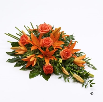 Picture of Rose and Lily Spray - Orange
