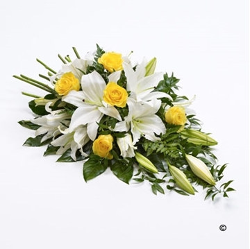 Picture of Rose and Lily Spray - Yellow and White