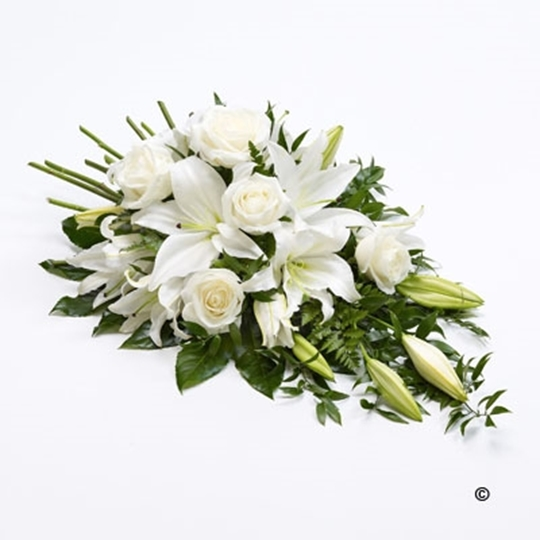 Picture of Rose and Lily Spray - White