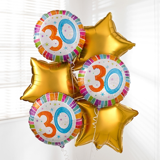 Picture of 30th Birthday Balloon Bouquet
