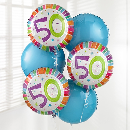 Picture of 50th Birthday Balloon Bouquet