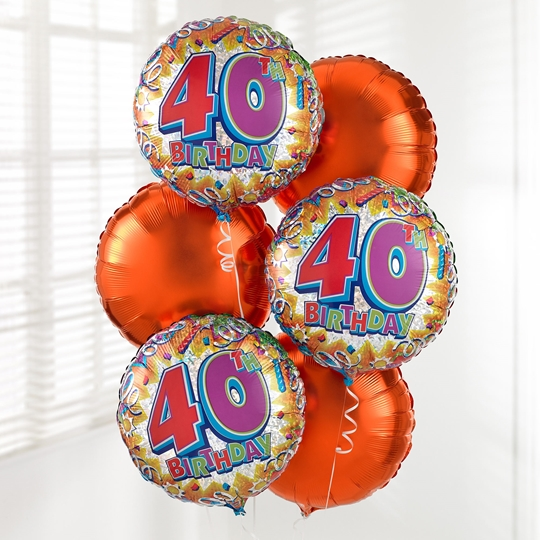 Picture of 40th Birthday Balloon Bouquet