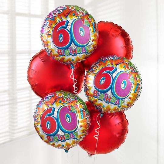 Picture of 60th Birthday Balloon Bouquet