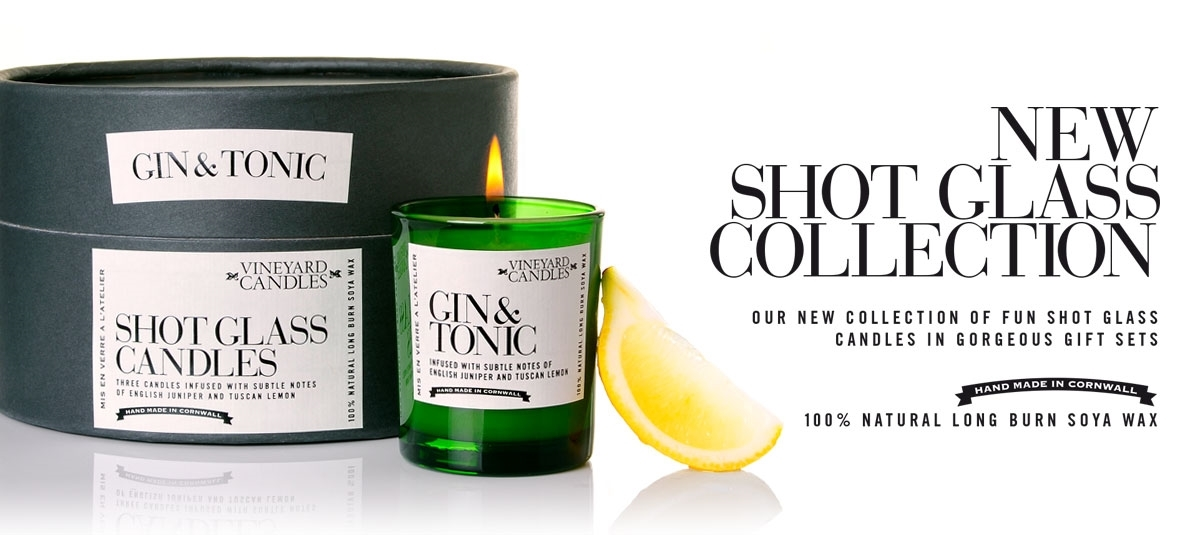 Gift Set Of 3 Gin And Tonic Shot Glass Candles Penny