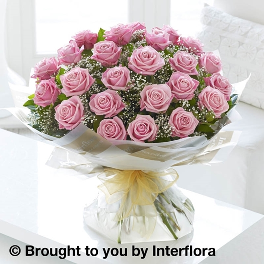 Picture of Heavenly 24 Pink Rose Hand-tied