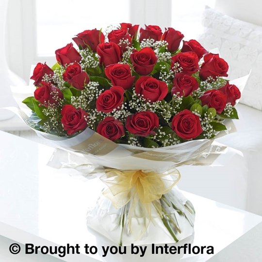 Picture of Heavenly 24 Red Rose Hand-tied