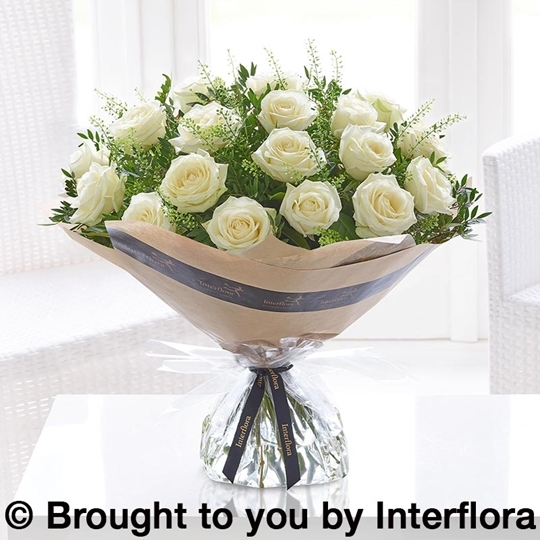 Picture of Dramatic Eighteen White Roses
