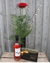 Picture of Single Red Rose Gift Set & Wine