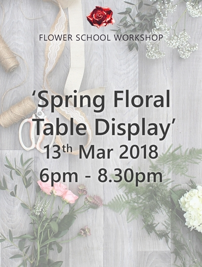 Picture of 'Spring Floral Table Display' Evening Workshop (deposit) - 13th Mar 2018, 6pm-8.30pm