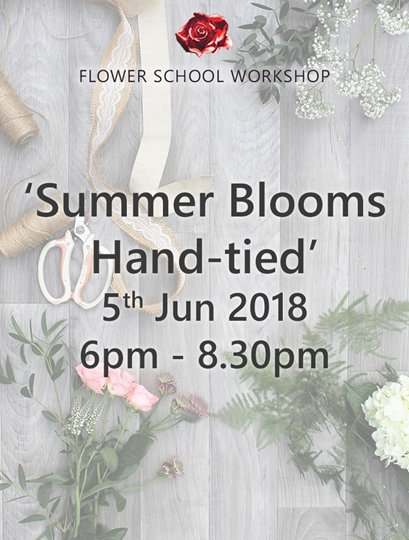 Picture of 'Summer Blooms Hand-tied' Evening Workshop (deposit)  - 5th June 2018, 6pm-8.30pm