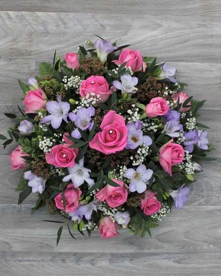 Picture of Rose and Freesia Posy - pink and lilac