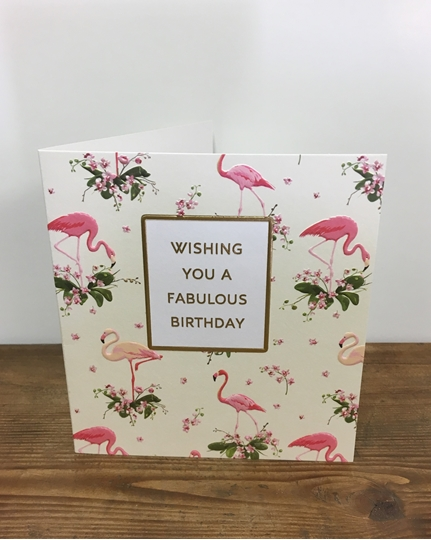 Picture of Flamingo Birthday Card