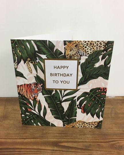 Picture of Jungle Cat Birthday Card