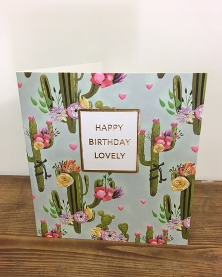 Picture of Cactus Birthday Card