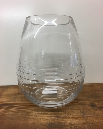 Picture of Clear Swirl Glass Vase