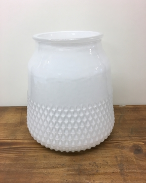 Picture of Texture White Collar Glass Vase