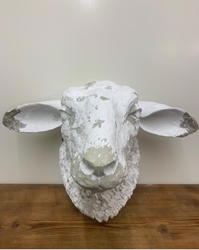 Picture of White Sheep Head Wall Deco