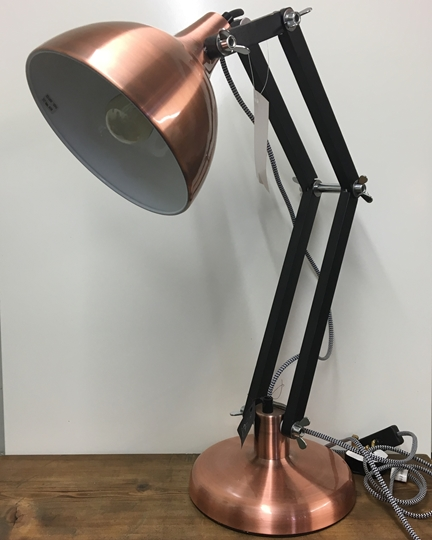 Picture of Copper Angled Desk Lamp