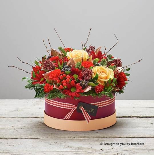 Picture of Burgundy Beauty Hatbox