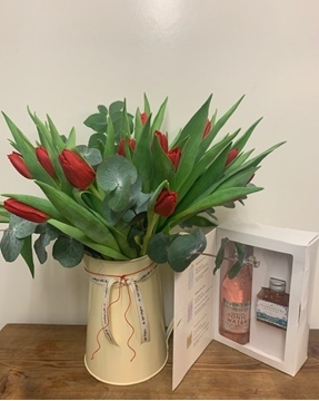Picture of Tulip Jug & gin gift set