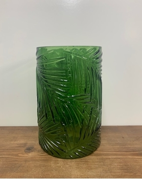 Picture of Green Palm Patterned Vase