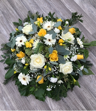 Picture of Rose and Freesia Posy - yellow and white
