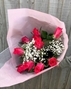 Picture of Rose and Gypsophila