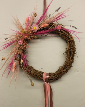 Picture of Pink Dried Floral Wreath