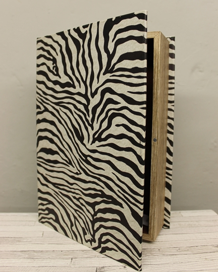Picture of Zebra Print Book Box