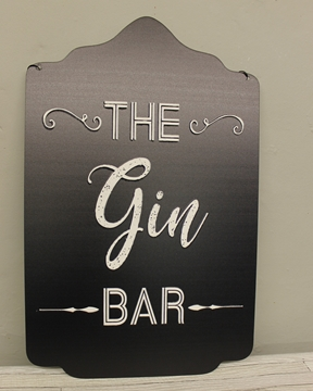"Picture of Embossed ""The Gin Bar"" Sign"