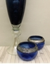 Picture of Set Tall Blue Vase and Tea-light holder