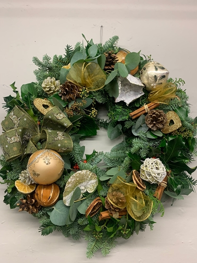 Picture of Pimped DIY Wreath Kit : Gorgeous Gold