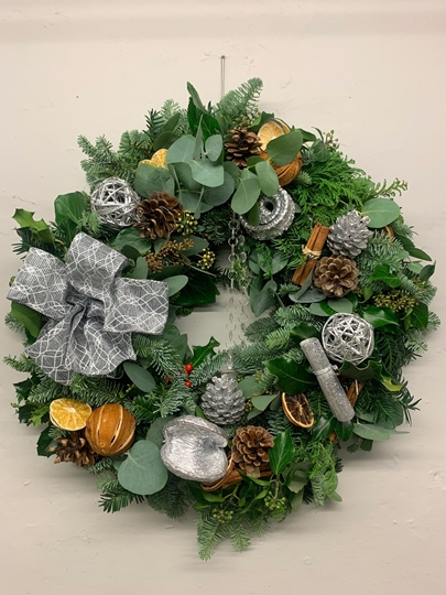 Picture of Pimped DIY Wreath Kit : Sassy Silver