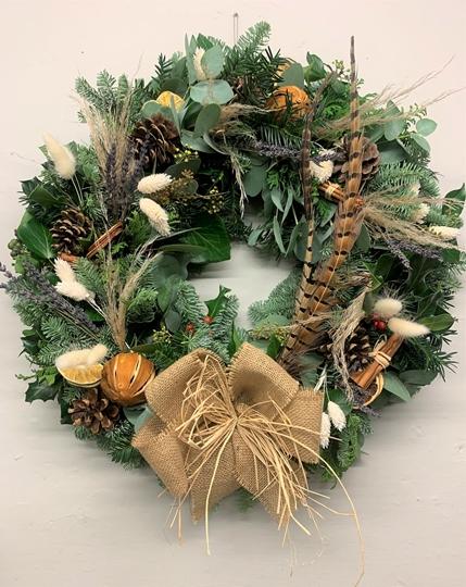 Picture of Au Naturel Christmas Door Wreath