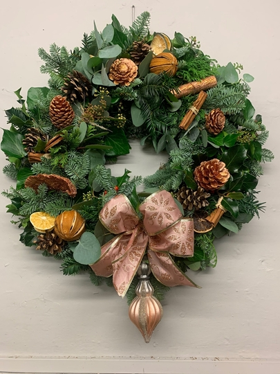 Picture of Pimped DIY Wreath Kit : sumptuous rose gold and copper