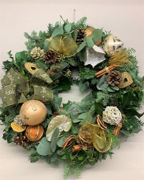 Picture of Gorgeous Gold Christmas Door Wreath
