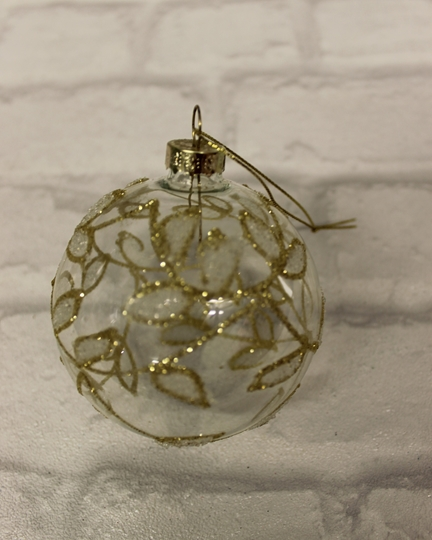 Picture of Clear Bauble With Gold Detail