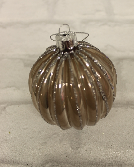 Picture of Champagne Pink & Silver Bauble