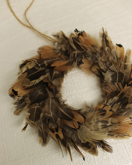 Picture of Mini Feather Wreath Hanging Decoation