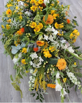 Picture of Country Garden Casket Spray
