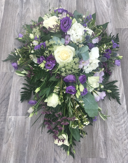 Picture of Purple and Ivory Spray £55