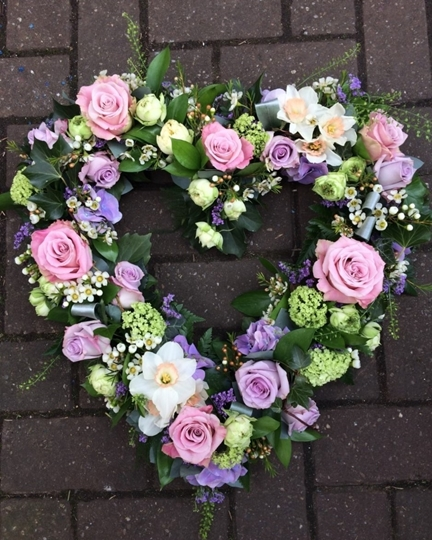 Picture of Lilac and Lavender Open Heart £75